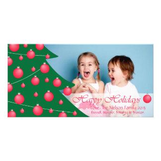 D1 Tree Decor-Red Holidays Photo Card