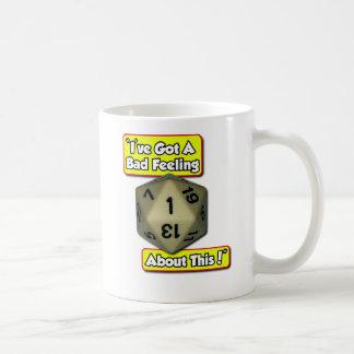 d20 Bad Feeling Coffee Mug