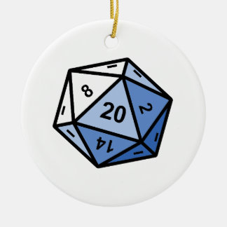 d20 christmas ornament