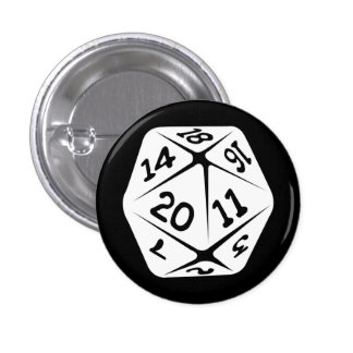 d20 geek swag 3 cm round badge