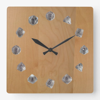 D20 Set Square Wall Clock