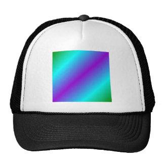 D2 Bi-Linear Gradient - Green, Cyan, Violet Trucker Hat