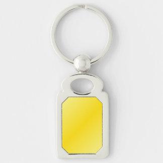 D2 Bi-Linear Gradient-Light Yellow and Dark Yellow Keychain