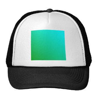 D2 Linear Gradient - Cyan to Green Trucker Hats