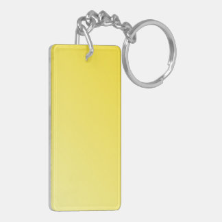 D2 Linear Gradient - Dark Yellow to Light Yellow Rectangular Acrylic Keychain