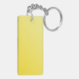 D2 Linear Gradient - Light Yellow to Dark Yellow Double-Sided Rectangular Acrylic Key Ring