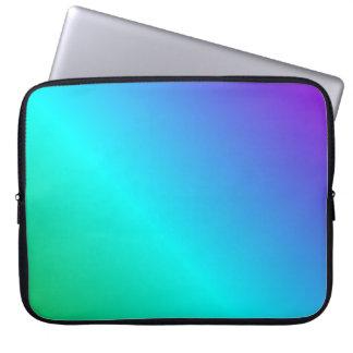 D2 Linear Gradient - Violet, Cyan, Green Laptop Computer Sleeves
