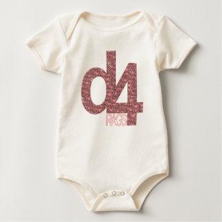 D4 Rags - Crazy Hearts) Baby Bodysuit