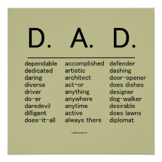 D.A.D. Father's Day Print