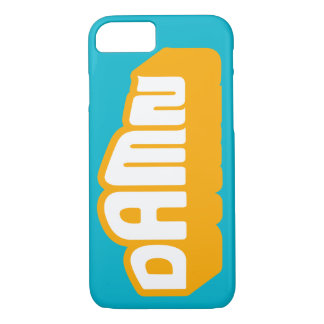D A M N Neon Orange iPhone 7+ case