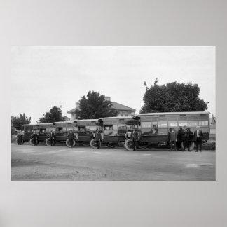 D C Bus Fleet 1921 Posters