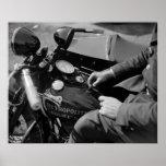D.C. Motorcycle Cop, 1930s Print