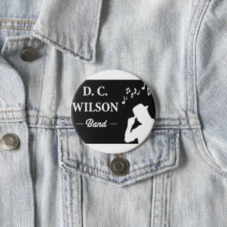 D C Wilson Band 3-inch button