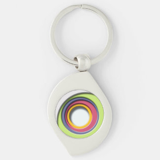 D, circular Forms, degraded of color Keychains