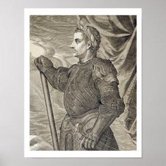 D. Claudius Caesar Emperor of Rome from 41 - 54 AD Poster