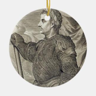 D. Claudius Caesar Emperor of Rome from 41 - 54 AD Round Ceramic Decoration