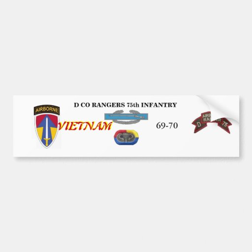 D Company RANGERS Vietnam Bumper Sticker