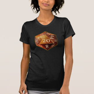 D&D d20 Sandstone and tan SAHARA die T-Shirt