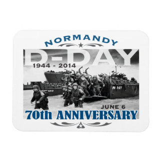 D-Day 70th Anniversary Battle of Normandy Rectangle Magnet