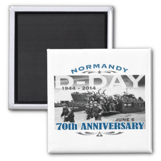 D-Day 70th Anniversary Battle of Normandy Square Magnet