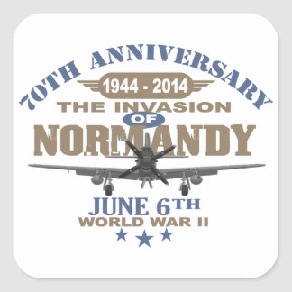 D-Day 70th Anniversary Battle of Normandy Square Sticker