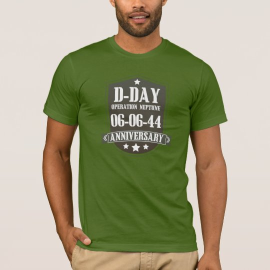 D-Day Anniversary Badge T-Shirt
