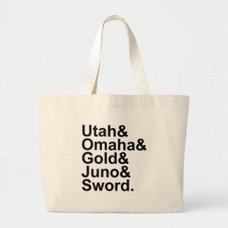 D-Day Beaches | Utah Omaha Gold Juno Sword Jumbo Tote Bag