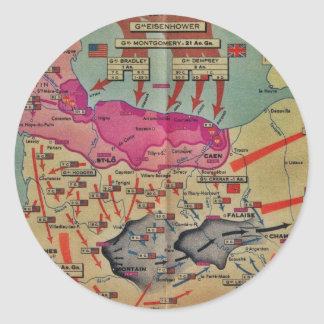 D-Day Landings Assorted Images Classic Round Sticker