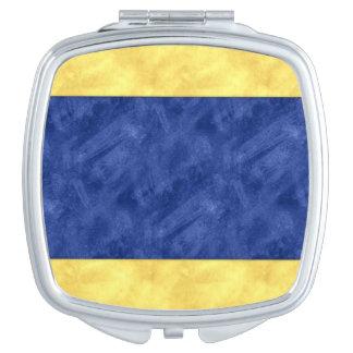D Delta Watercolor Nautical Signal Maritime Flag Compact Mirrors