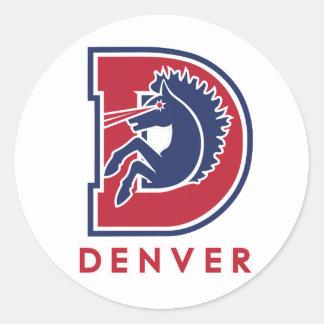D Denver Logo Round Sticker