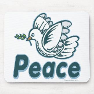 D - Dove Olive Branch Peace Mousepads