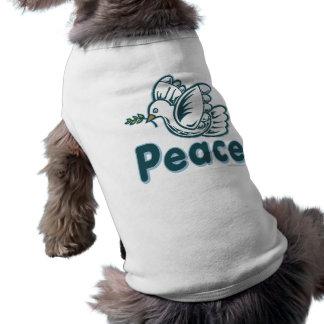 D - Dove Olive Branch Peace Pet T Shirt