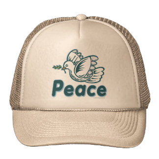 D - Dove, Olive Branch, Peace Trucker Hats