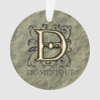 D - Embossed Vintage Monogram