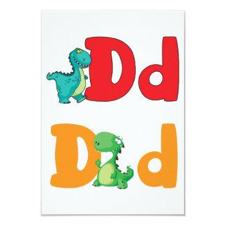 D For Dinosaur Invitations