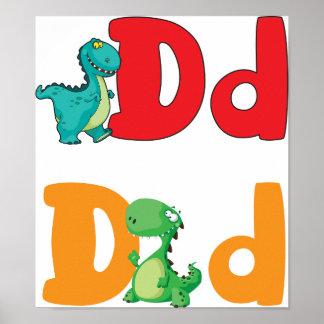 D For Dinosaur Poster