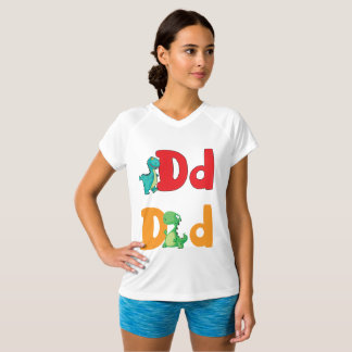 D For Dinosaur Womens Active Tee
