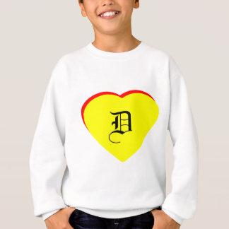 """D"" Heart Yellow Red Wedding Invitation The MUSEUM Sweatshirt"