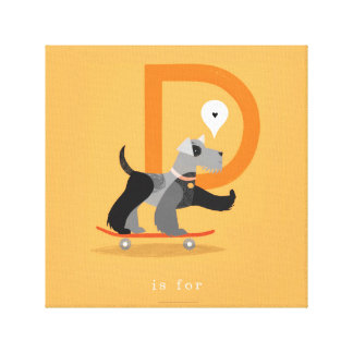 D is for... canvas print