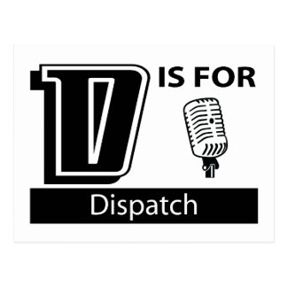 D Is For Dispatch Postcard