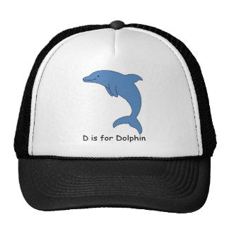 D is for Dolphin Mesh Hat