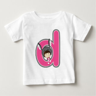 D is for Donkey Girl Baby T-Shirt