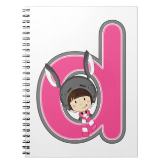 D is for Donkey Girl Notebook