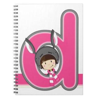 D is for Donkey Girl Notebooks