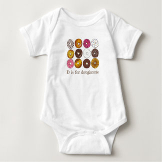 D is for Doughnuts Donut Dozen Breakfast Food Baby Bodysuit