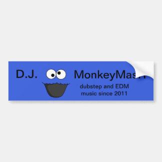 D.J. MonkeyMasH sticker Bumper Sticker