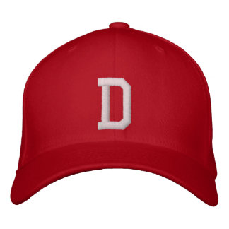 D Letter Embroidered Hat