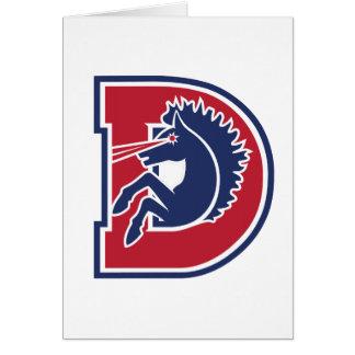 D Logo Greeting Card