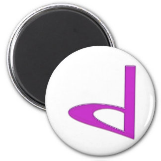 d Lowercase American Letter 6 Cm Round Magnet
