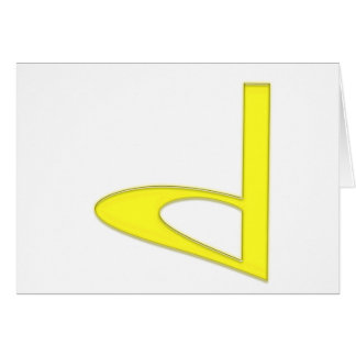 d Lowercase American Letter Greeting Card